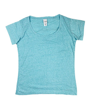 RGRiley | J.America Womens Maui Blue Scoopneck T-Shirts | Closeout