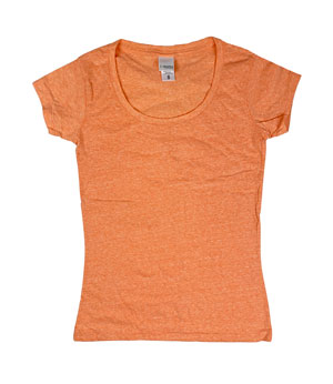 RGRiley | J.America Womens Orange Scoopneck T-Shirts | Closeout