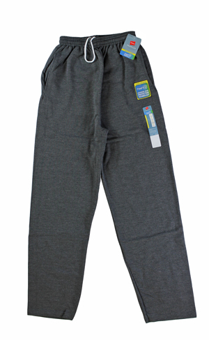 RGRiley | Hanes Mens Slate Heather Fleece Sweatpants | Closeout
