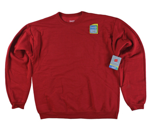RGRiley | Hanes Mens Carmine Red Fleece Crew Neck Sweatshirts | Closeout