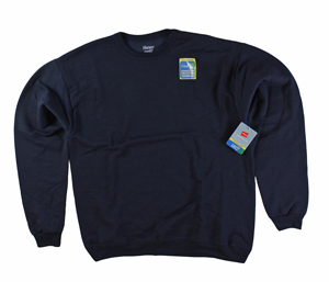 RGRiley | Hanes Mens Navy Fleece Crew Neck Sweatshirts | Closeout