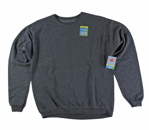 RGRiley | Hanes Mens Slate Heather Fleece Crew Neck Sweatshirts | Closeout