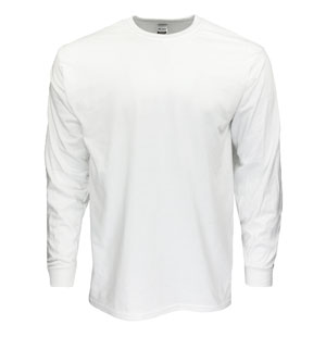 RGRiley | Gildan Mens White Long Sleeve T-Shirt | Mill Irregular