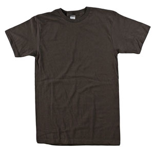 RGRiley.com | Aduil 5.5 oz 100% Cotton Bulk Dark Chocolate Tee Shirts | Closeout