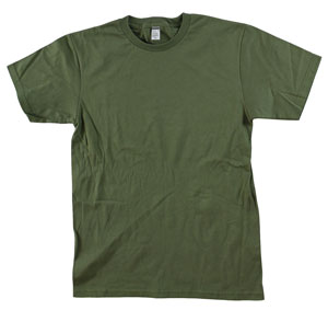RGRiley.com | Adult 5.5 oz 100% Cotton Bulk Military Green Tee Shirts | Closeout