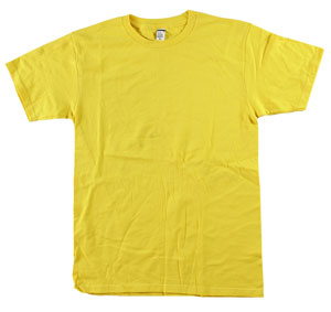 RGRiley.com | Adult 5.5 oz 100% Cotton Bulk Yellow Tee Shirts | Closeout