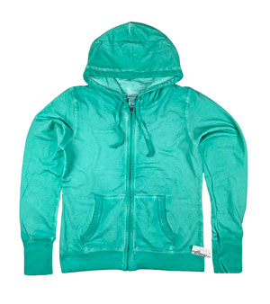 RGRiley | J. America Ladies Spearmint Oasis Wash Zipper Hoods | Closeout