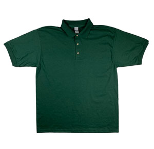 RGRiley | Gildan Mens Forest Green Jersey Knit Sport Shirts | Irregular