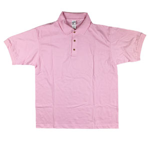 RGRiley | Gildan Mens Light Pink Jersey Knit Sport Shirts | Irregular