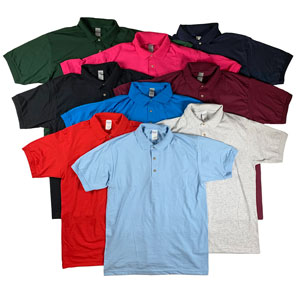 RGRiley | Gildan Mens Jersey Knit Sport Shirts | Irregular