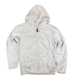 RGRiley | J.America Womens White Shag Zipper Hoods | Closeout