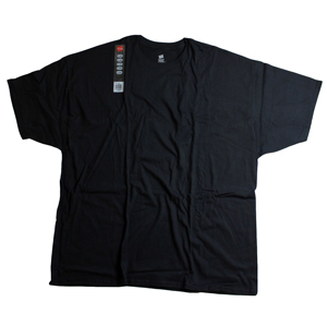 RGRiley | Hanes Mens Black Jersey T-Shirts | Closeout