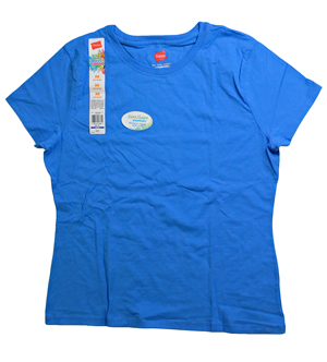 RGRiley | Bulk Womens Dazzling Bluefin V-neck T-Shirts | Hanes Closeout