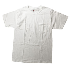 RGRiley | Adult Bulk White Pocket T-shirts | Hanes Irregular