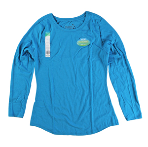 RGRiley | Hanes Womens Bold Blue Tri Blend Long Sleeve T-Shirts | Closeouts