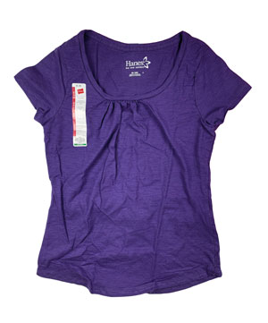 RGRiley | Hanes Womens Purple Scoop Neck T-Shirts | Closeout