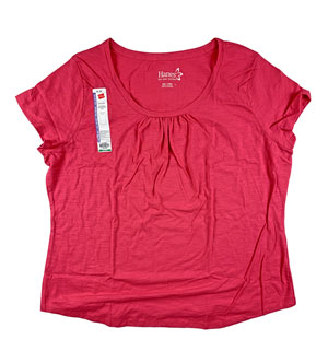 RGRiley | Hanes Womens Flame Scoop Neck T-Shirts | Closeout