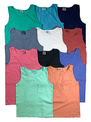 RGRiley | Comfort Color Mens Pocket Tank Tops | Mill Graded