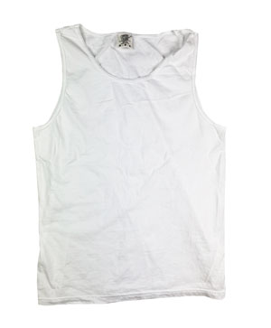 RGRiley | Comfort Color Mens White Tank Tops | Mill Graded