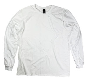 RGRiley | Gildan Mens White Long Sleeve T-Shirts | Mill Graded