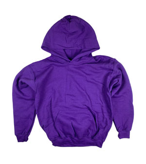 RGRiley | Gildan Youth Purple Pullover Hoodies | Irregular