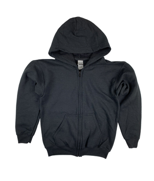 RGRiley | Gildan Boys Black Heavy Blend Zipper Hoodies | Irregular