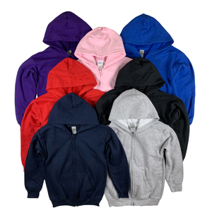 RGRiley | Gildan Boys Heavy Blend Zipper Hoodies | Irregular
