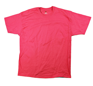 RGRiley | Adult 100 % Cotton Hanes Bulk Bright Pink Rose T-Shirts | Closeout