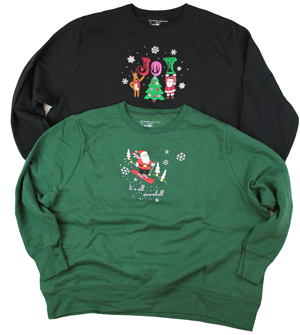 style BS3IP |Plus Size Christmas Crews