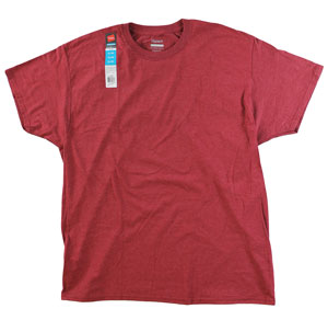 RGRiley.com | Adult Brick Heather Comfort Blend T-Shirt | Closeout