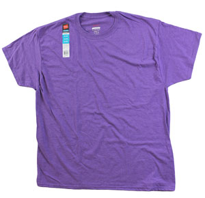 RGRiley.com | Adult Purple Heather Comfort Blend T-Shirt | Closeout