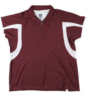 RGRiley | First Quality Womens Champion Maroon/White Polo Shirt | Closeout