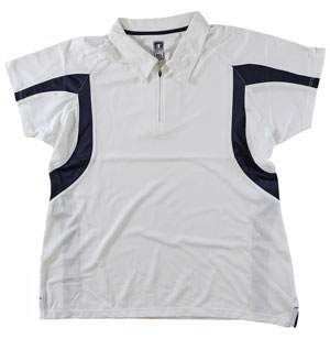 RGRiley | First Quality Womens Champion White/Navy Polo Shirt | Closeout