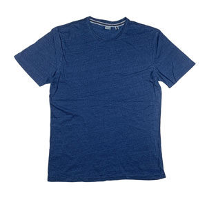 RGRiley | A2Z Mens Heather Indigo Crewneck T-Shirts | Closeout