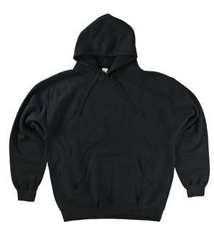 RGRiley | Mens Black Fleece Pullover Hooded Sweatshirts | Closeout