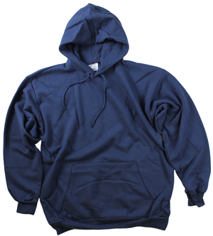 RGRiley | Mens Navy Fleece Pullover Hooded Sweatshirts | Closeout