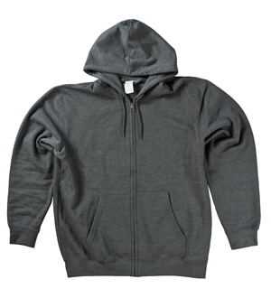RGRiley | Mens Charcoal Fleece Zipper Hooded Sweatshirts | Closeout
