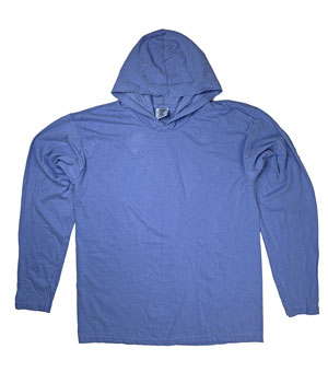 RGRiley | Comfort Colors Mens Flo Blue Long Sleeve T-Shirts | Irregular