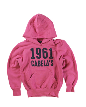 RGRiley | Youth Cabelas Pink Pullover Hoodies | Irregular