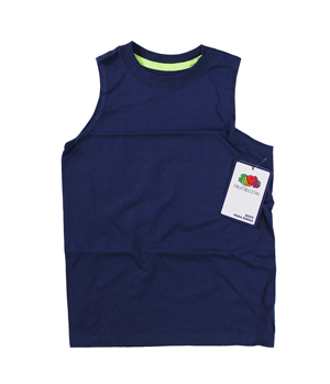 RGRiley | Fruit of the Loom Boys Cobalt/Safety Green Muscle Shirts | Closeout