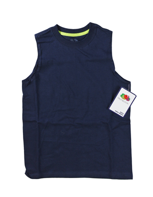 RGRiley | Fruit of the Loom Boys J. Navy/Aloe Muscle Shirts | Closeout