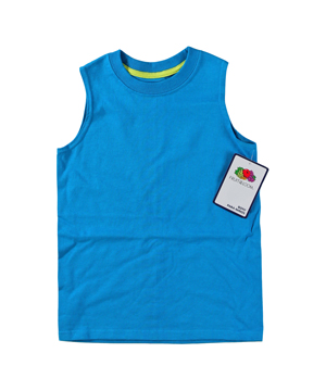 RGRiley | Fruit of the Loom Boys Parrot Blue Muscle Shirts | Closeout