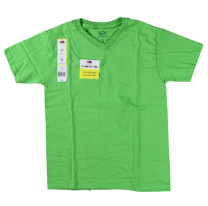 RGRiley | Youth Boys Cycle Lime V-Neck T-Shirts | Closeout