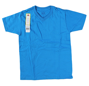 RGRiley | Youth Boys Pacific Blue V-Neck T-Shirts | Closeout