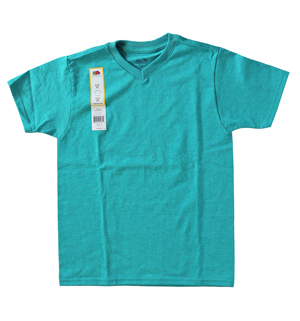 RGRiley | Youth Fruit of the Loom Sea Jade V-Neck T-Shirts | Closeout