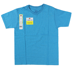 RGRiley | Youth Boys Turquoise Heather V-Neck T-Shirts | Closeout