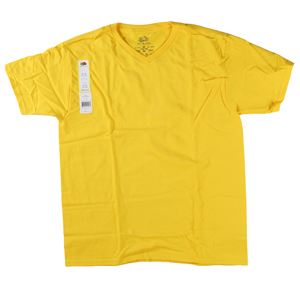 RGRiley | Youth Boys Yellow Gold V-Neck T-Shirts | Closeout