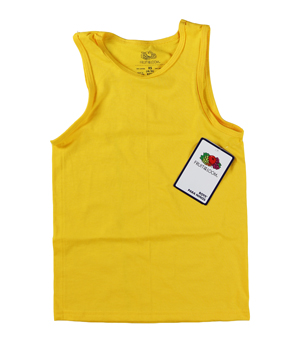 RGRiley | Boys Fruit of the Loom Yellow Gold Tank Tops | Closeout