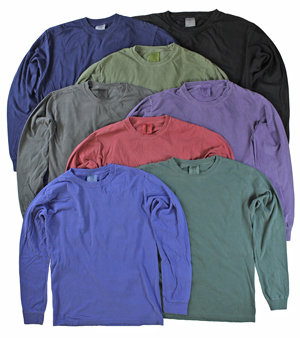 RGRiley | Adult Comfort Color Long Sleeve T-Shirts | Mill Graded Irregular