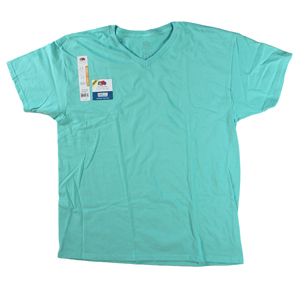 RGRiley | Mens Fruit Of The Loom Scuba Blue V-Neck T-Shirts | Closeout